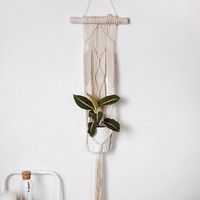 Braided Macrame Plant Hanger/ Plant holder/ Hanging planter/ Braided cotton cord/ Modern macrame/ Home decor/ Macrame Plant Hanger