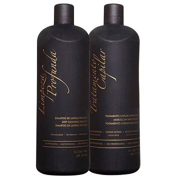 BRAZILIAN KERATIN KB  MOROCCAN TREATMENT 1000ml 34oz KIT.