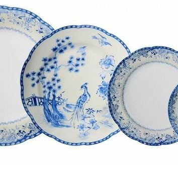 MOTTAHEDEH Virginia Blue Dinnerware Collection