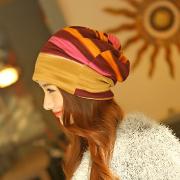 Winter Hip-Hop Hat &Scarf Multifunction Women Knitted Hat