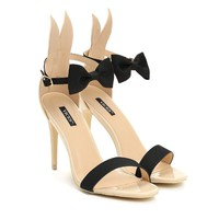 VICES selection design Alice Bunny High Heel Sandal - Beige, Black, Pink