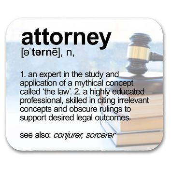 Attorney Definition Funny  Mouse Pad