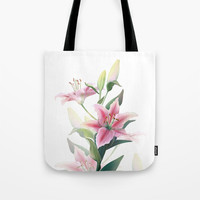 Lilium Tote Bag by printapix