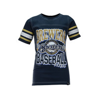 Milwaukee Brewers MLB Youth Girls XOXO T-Shirt - http://www.tkqlhce.com/click-7710548-11191294?url=http%3A%2F%2Fshop.neweracap.com%2FMLB%2FMilwaukee-Brewers%2F20558651 / Navy / 100% Cotton, Knit