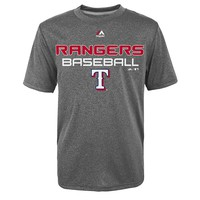 Majestic Texas Rangers Game-Winning Run Tee - Boys 8-20, Size: