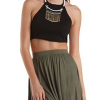 Caged Back Halter Crop Top by Charlotte Russe