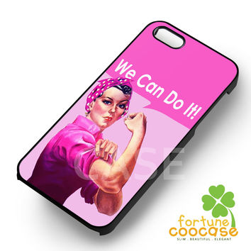 Breast Cancer Campaign Pink Rosie The Riveter -swe for iPhone 4/4S/5/5S/5C/6/ 6+,samsung S3/S4/S5/S6 Regular/S6 Edge,samsung note 3/4