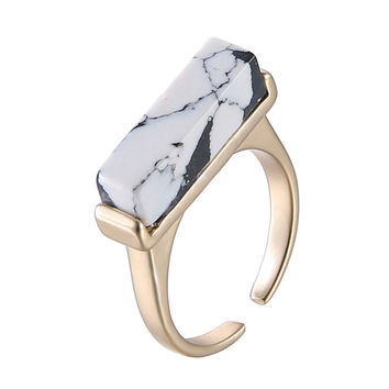 Shiny Jewelry Gift New Arrival Korean Fashion Vintage Geometric Strong Character Stylish Ring [6049500993]