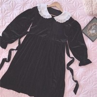 Princess Cecilia Dreamy Vintage Velvet Lace Dress