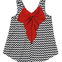 Moa Moa Chevron Bow-Back Top | Dillards.com