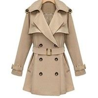 Women's Classic Double Breasted Trench Coat