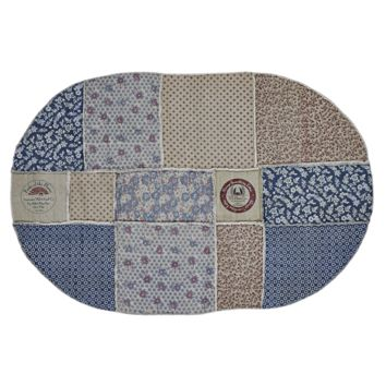 Millie Patchwork - Vintage Flour Sack - Reverse Seam Patches - Oval - 70 x 100 - Rug