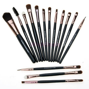 Professional Synthetic Hair Eyeshadow Brushes Makeup Brushes Sets Kits 15 Pcs Make-Up Brushes Makeup Tools Kit SV012601|42101 = 1946013636