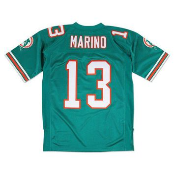 LMFNW6 Mitchell Ness Dan Marino 1994 Authentic Jersey Miami Dolphins In Teal