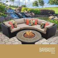 Barbados 4 Piece Outdoor Wicker Patio Furniture Set 04e