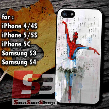 Spiderman Ballet - Hard Plastic and Rubber Case for iPhone 4/4S, 5/5S, 5C And Samsung Galaxy S3, S4