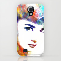 Audrey Hepburn iPhone & iPod Case by Michael Akers