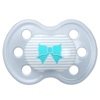 Turquoise Bow Pacifier