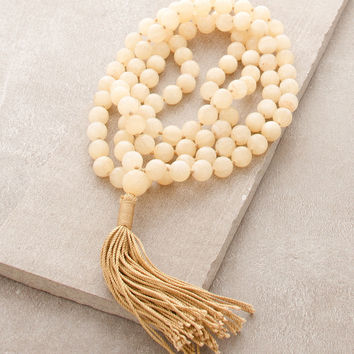 High-Energy Honey Jasper Mala