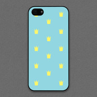iPhone 4 / 4s case - Tiffany Teal and yellow color Crown pattern| iPhone4 Case, Cases for iPhone4, iPhone4s Case, Cases for iPhone4s