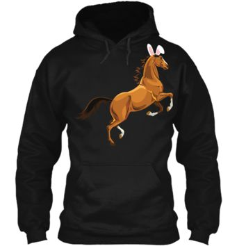 Horse Easter Shirt Funny Easter Day Tee For Men Women Pullover Hoodie 8 oz