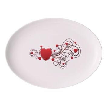 Scrolled Hearts kash003 Porcelain Serving Platter