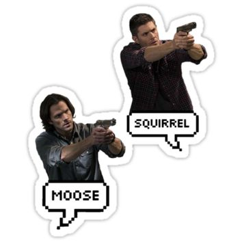 'Supernatural Sam & Dean ' Sticker by LondonMichaelis