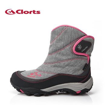 Clorts Women Hiking Boots Waterproof Snow Boots Warm Outdoor Hiking Shoes for Women SNBT-203