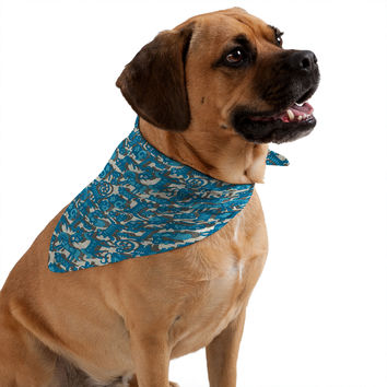 Sharon Turner Chinese Animals Blue Pet Bandana