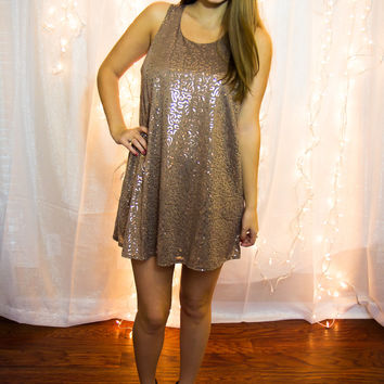 Kiss Me At Midnight Dress - Mocha - Final Sale