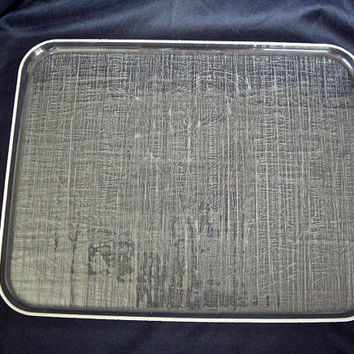 Vintage Rectangular Lucite Serving Tray