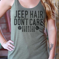 Jeep Hair Don't Care | Essential Racerback Tank