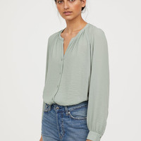 Crêped Blouse - Light pink - Ladies | H&M US