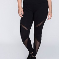 Wicking Active Legging with Mesh Insets | Lane Bryant