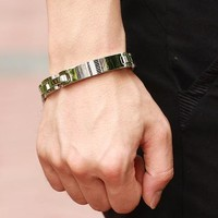 Awesome Great Deal Stylish Shiny Gift Hot Sale New Arrival Men Titanium Accessory Black Bracelet [10783261187]