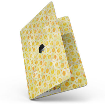 Yellow Watercolor Ring Pattern - MacBook Pro without Touch Bar Skin Kit