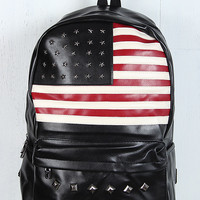 Pyramid Studded American Flag Backpack