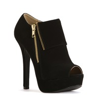 Sale-black Exposed Flap Booties