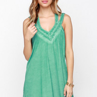 RVCA Tunnel Vision Washed Sea Green Dress