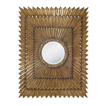 Bronze Deco Sunburst Mirror