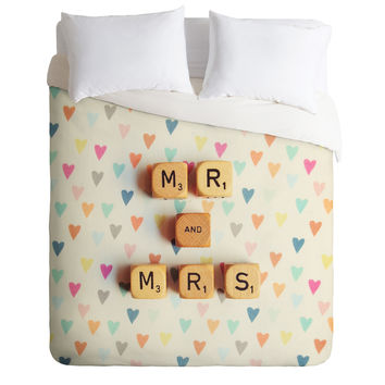 Happee Monkee Mr And Mrs Duvet Cover