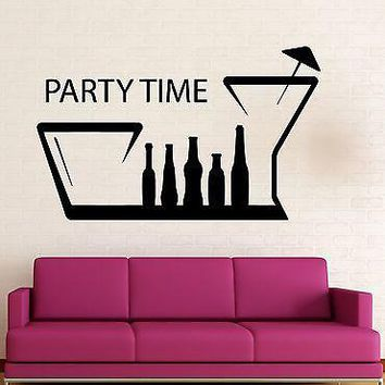 Wall Sticker Vinyl Decal Party Time Fun Nightclub Hangout Positive Unique Gift (ig2090)