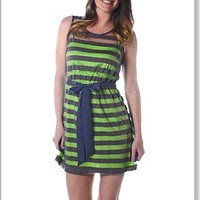 Sheer Shadow Striped Tank Dress with Lining | Apricot Lane