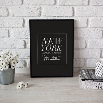 New York City, Manhattan, Typography Poster, NYC, Bedroom Poster, Wall Decor, Home Decor Print, NY Print, Calligraphy Print, Big City NY