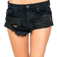 One Teaspoon || Bandits shorts in fox black