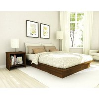 Sonax QP-2207 Plateau Queen Platform Bed in Urban Maple