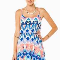 ShopSosie Style : Myah Cinched Dress in Blue