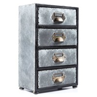 Antique Gray 4-Drawer Zinc Cabinet | Shop Hobby Lobby