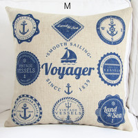 Mediterranean Style Ocean Theme Decorative Pillow Case 2-3