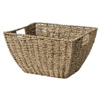 Threshold™ Decorative Seagrass Basket Gold Shimmer - 14x11x8""